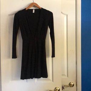 American Apparel low cut fit flare dress